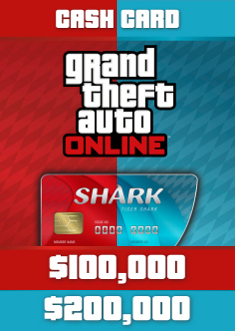 Купить GTA Online: Red Shark & Tiger Shark Cash Card
